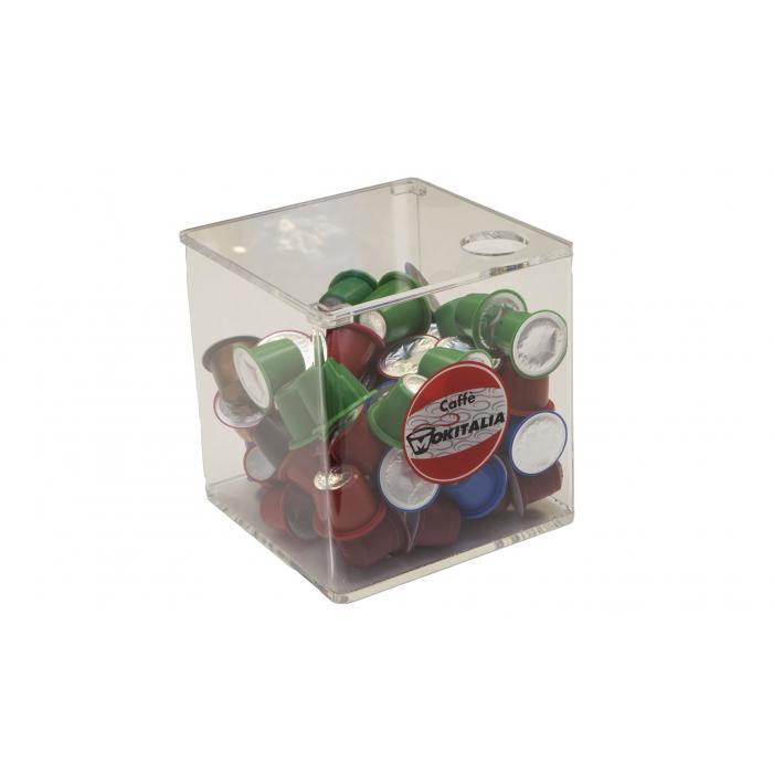Porta capsule plexiglass con coperchio mokitalia - Nespresso porta cialde ...