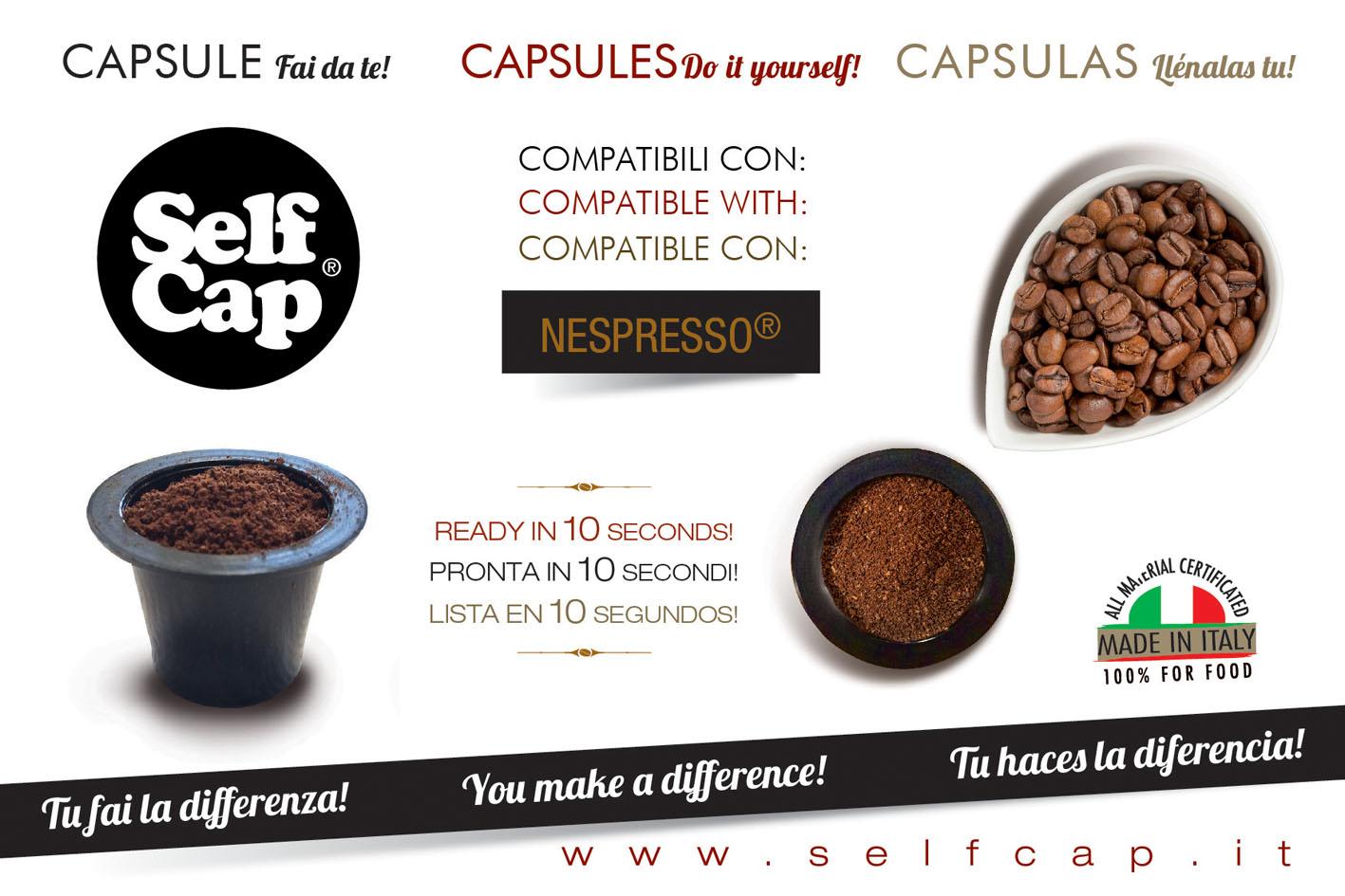Selfcap 300 capsule fai da te caricabili per nespresso for Porta capsule fai da te